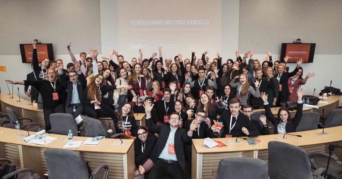 Kauno Veršvų gimnazijos ir VDU Verslo praktikų centro – išskirtinis verslumo renginys mokiniams ir jų mokytojams