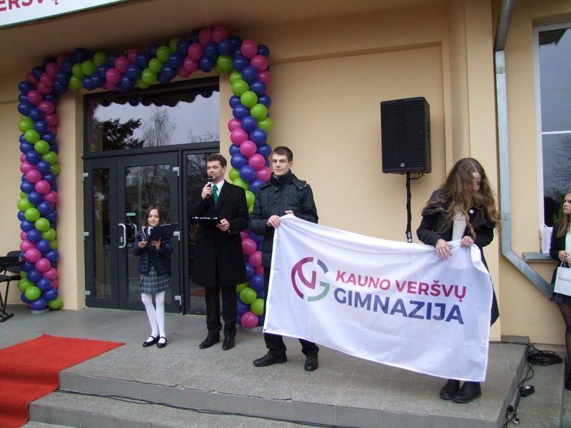 Veršvų gimnazijos inauguracijos akimirkos