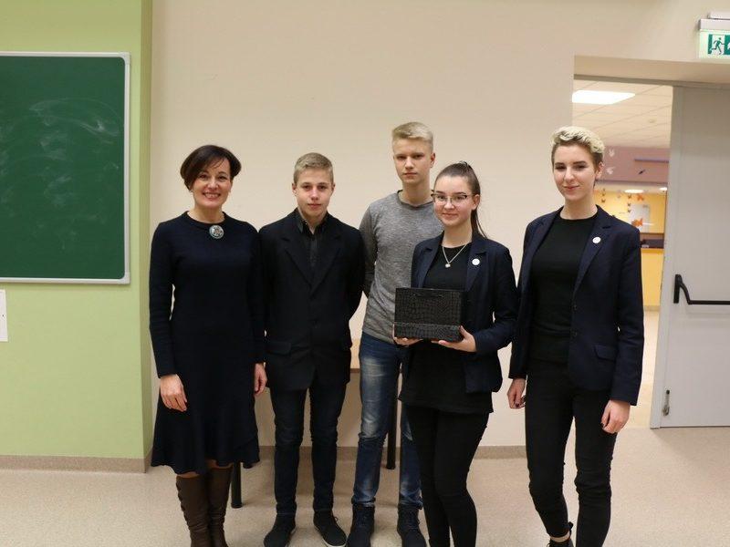 Veršvų gimnazijos MMB sėkmingai dalyvavo Startuolių mugėje