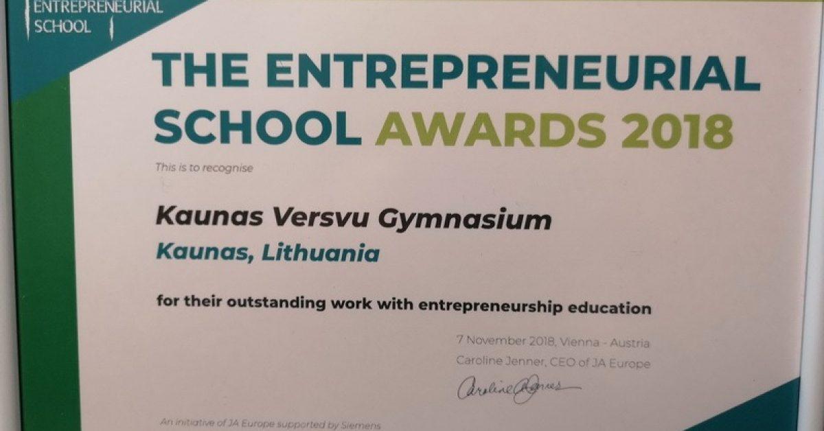 Veršvų gimnazija – viena versliausių Europos mokyklų!
