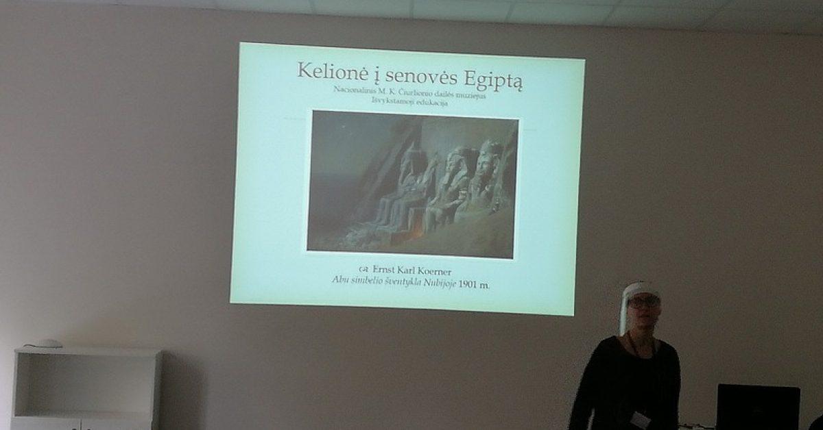 """Nacionalinio M. K. Čiurlionio dailės muziejaus išvažiuojamosios edukacijos programa """"Kelionė į Egiptą"""""""