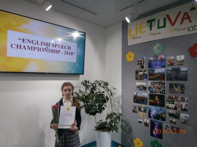 """Anglų kalbos čempionatas """"English Speech Championship – 2018"""""""