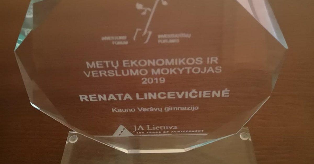 Renata Lincevičienė – Metų ekonomikos ir verslumo mokytoja