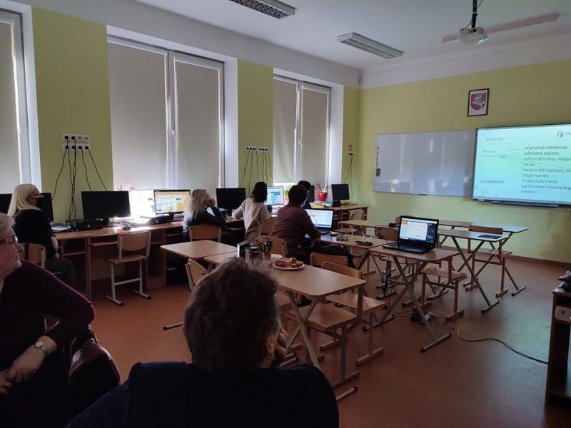 Skaitmeninių kompetencijų kvalifikacijos kėlimo seminaras