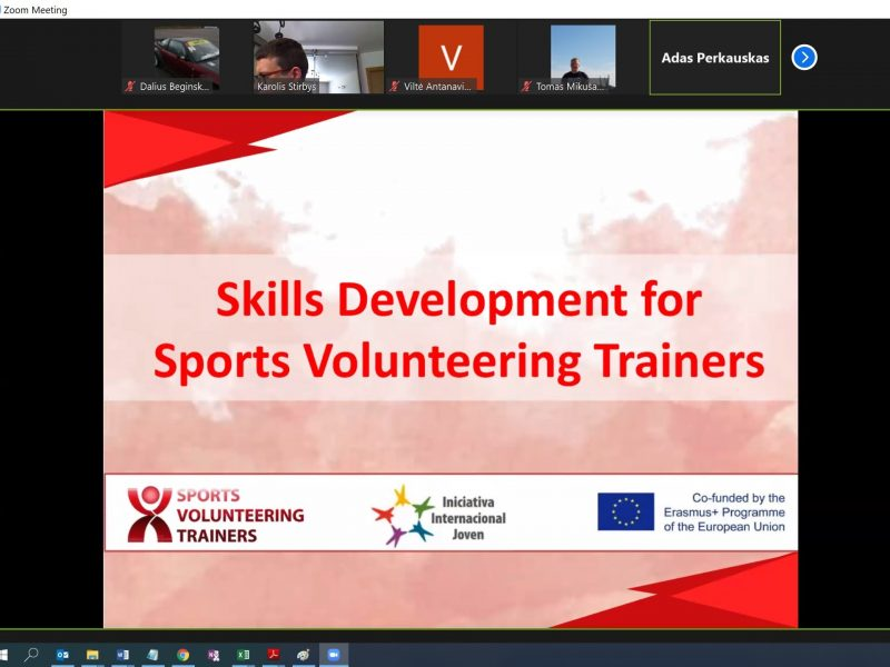 "PROJEKTO ""SPORTS VOLUNTEERING TRAINERS"" DISKUSIJA"