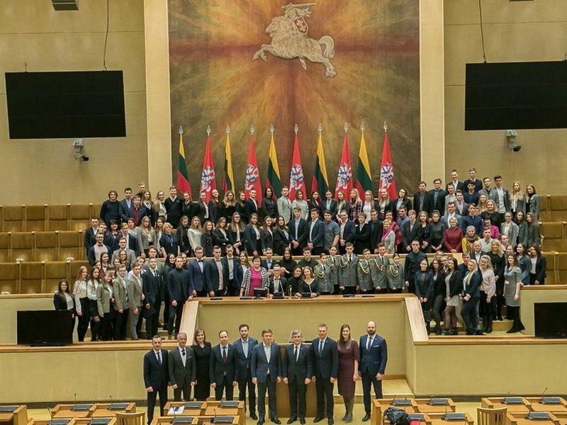 Mokinių parlamento simuliacija LR Seime