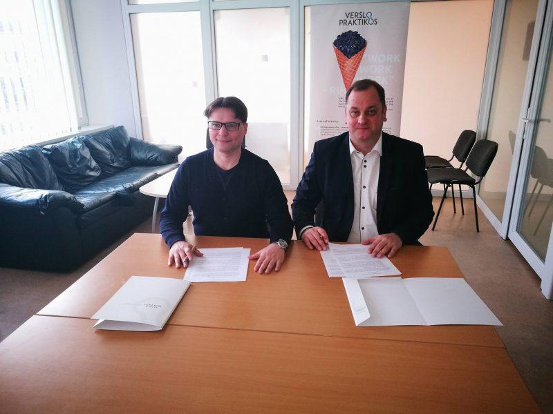 Pasirašyta Veršvų gimnazijos ir VDU Verslo praktikų centro bendradarbiavimo sutartis